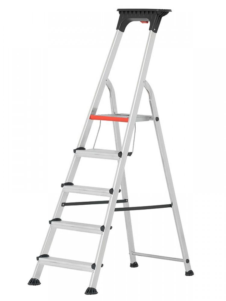 Trendig HYMER Stehleiter Alu-Pro mit Doppelstufe 71026 5 Stufen YF35