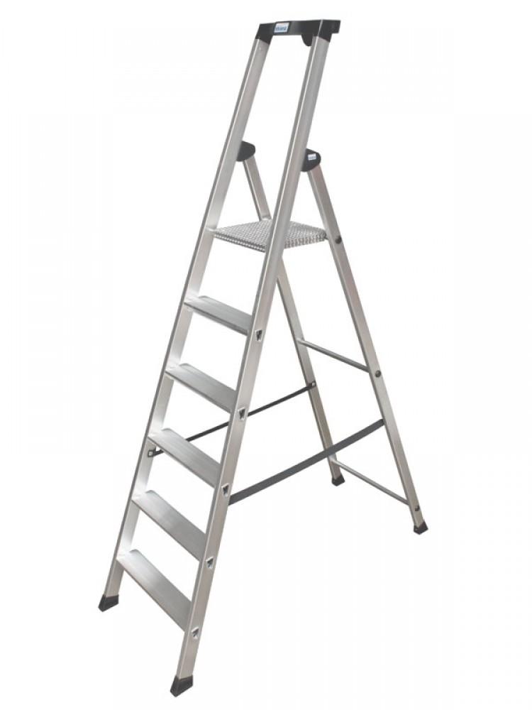 Krause Solido Gebordelte Stehleiter 6 Stufen 126658