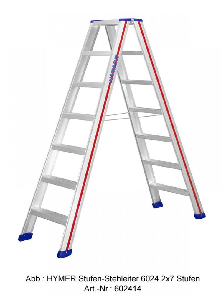 hymer stufen stehleiter 6024 beidseitig begehbar 2x8 stufen. Black Bedroom Furniture Sets. Home Design Ideas