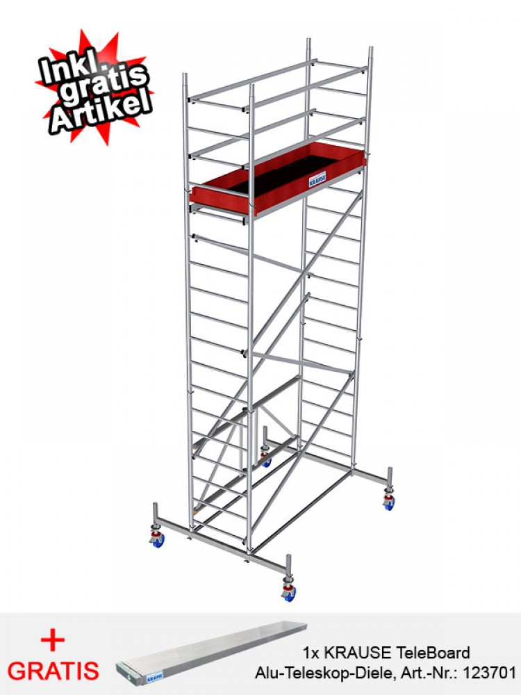 krause leiter safety haushaltsleiter stehleiter 8 stufen. Black Bedroom Furniture Sets. Home Design Ideas