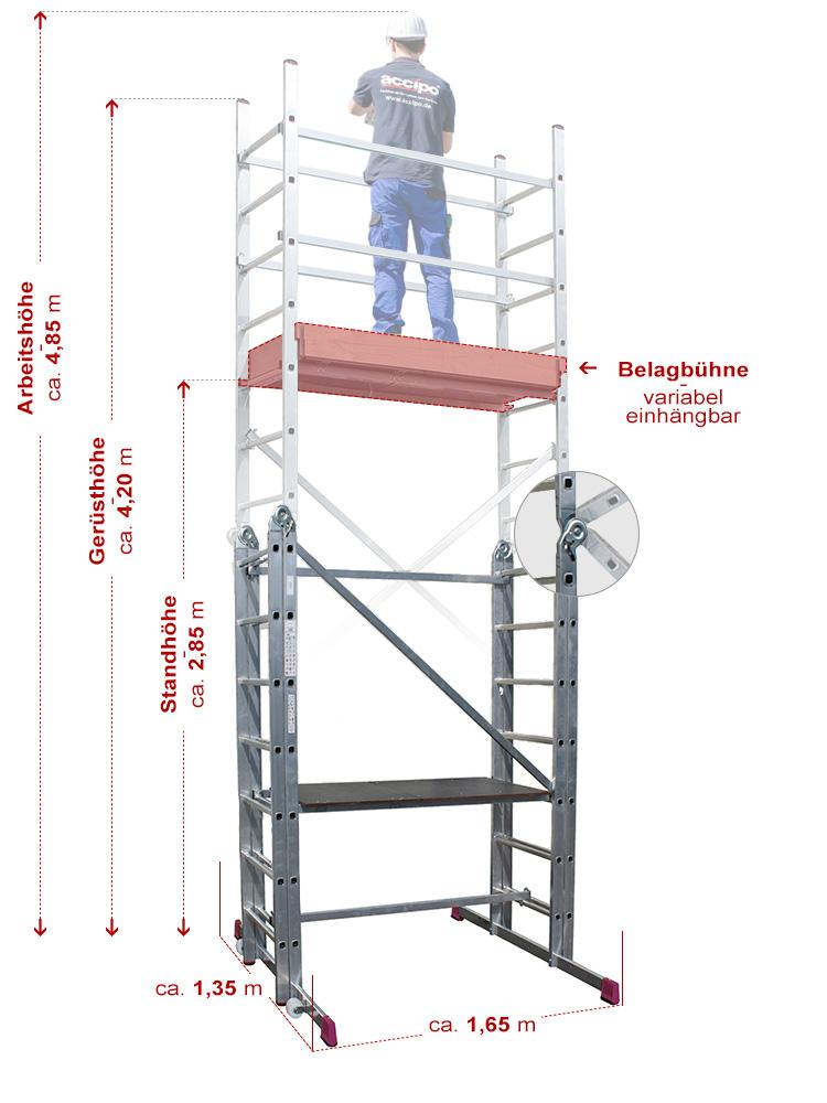 krause corda gelenk ger st leiternger st ah 4 85 m. Black Bedroom Furniture Sets. Home Design Ideas