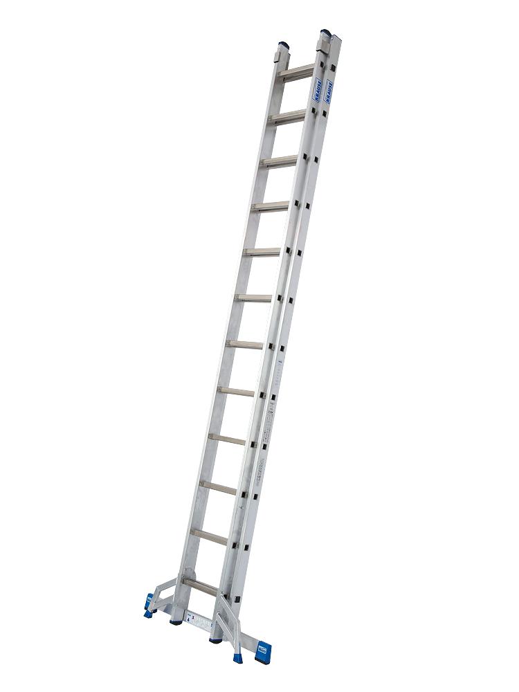 mit bis zu 2x18 Sprossen 2x9 STABILO PROFESSIONAL Schiebeleiter STABILO
