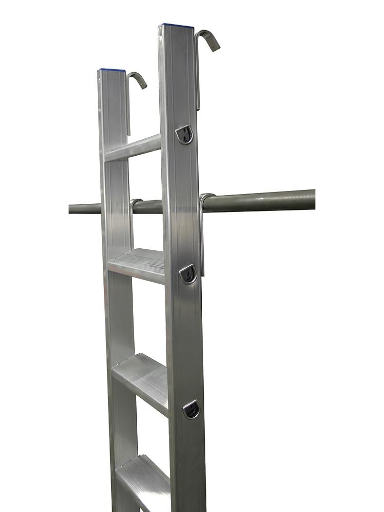 krause stabilo stufen regalleiter 15 stufen mit 4 einh ngehaken. Black Bedroom Furniture Sets. Home Design Ideas