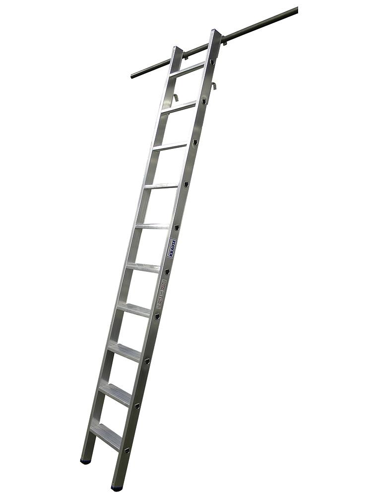 krause stabilo stufen regalleiter 10 stufen mit 4 einh ngehaken. Black Bedroom Furniture Sets. Home Design Ideas