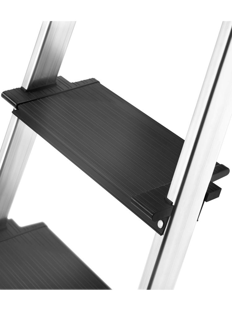 Hailo L100 TopLine Stehleiter 3 Stufen Steh Leiter Alu Klappleiter Aluminium