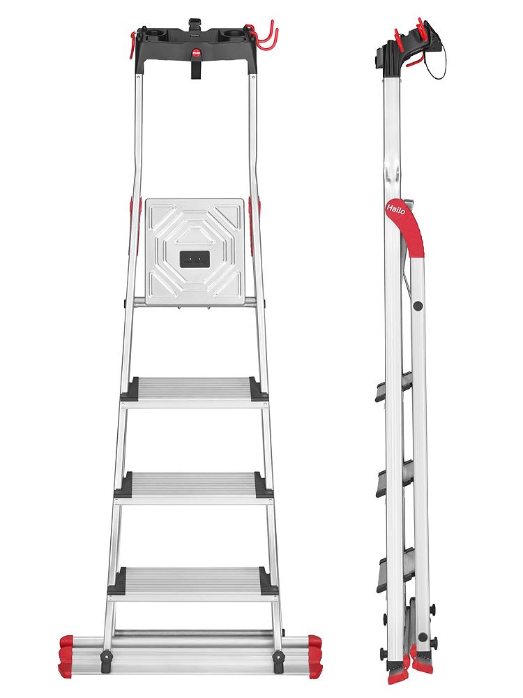 hailo stehleiter xxl garden home easyclix 4 stufen. Black Bedroom Furniture Sets. Home Design Ideas
