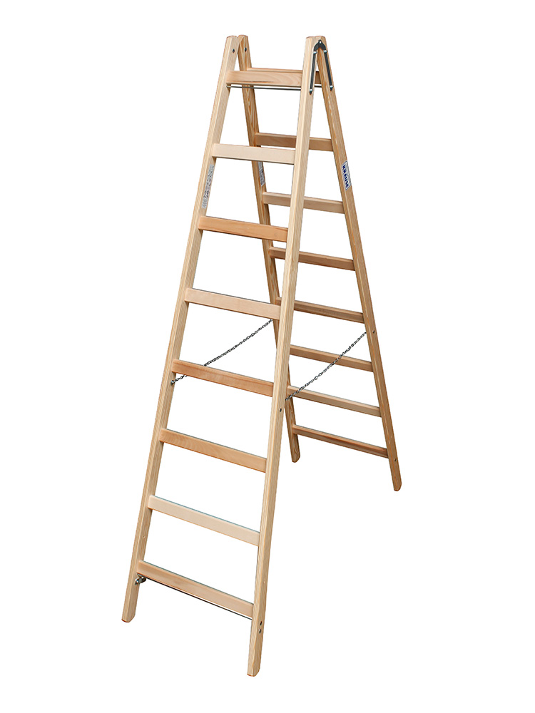 Leiter Doppelstufenleiter Stehleiter Holzleiter Malerleiter mit 4 5 6 Sprossen