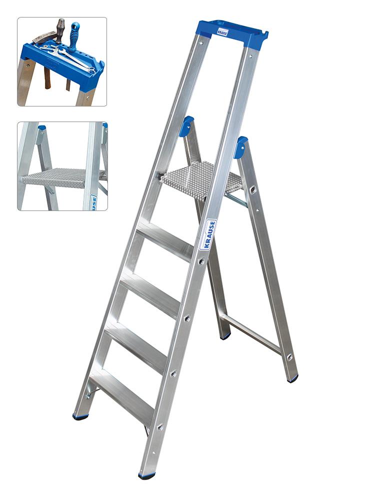 Gut gemocht KRAUSE Leiter Profi Stufen-Stehleiter 5 Stufen - 124524 YZ19
