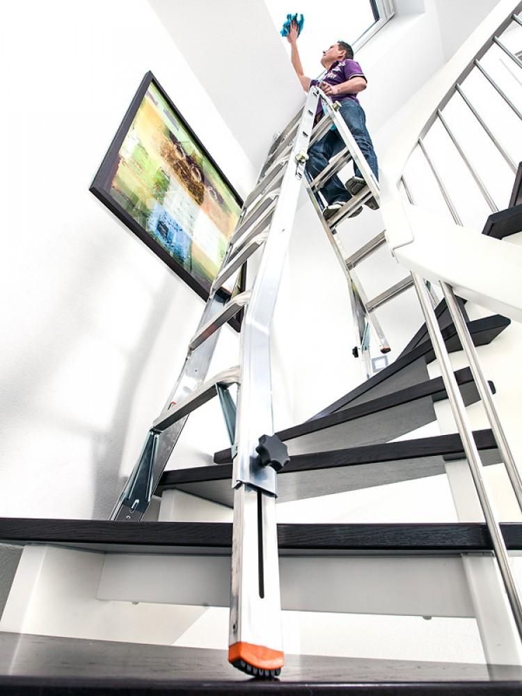 krause leiter televario gelenkleiter teleskopleiter 4x4 sprossen gefertigt nach neuer norm. Black Bedroom Furniture Sets. Home Design Ideas