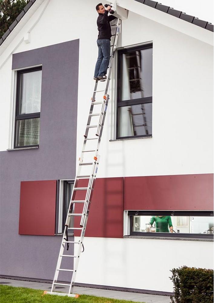krause tribilo vielzweckleiter 3x8 sprossen mit treppenfunktion. Black Bedroom Furniture Sets. Home Design Ideas