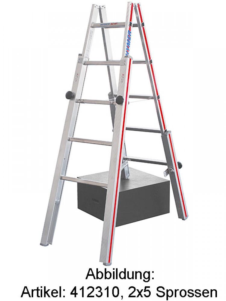 hymer sc 40 treppenstehleiter 4123 2x8 sprossen. Black Bedroom Furniture Sets. Home Design Ideas