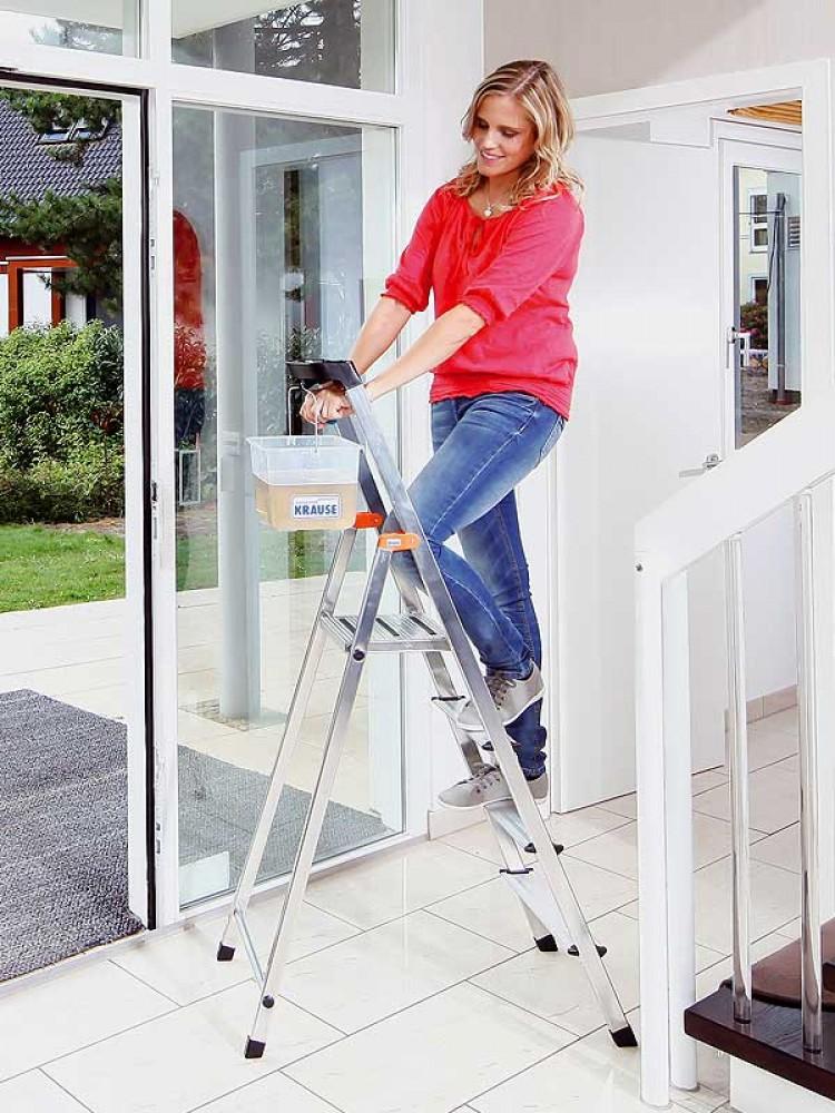 krause leiter safety haushaltsleiter stehleiter 5 stufen. Black Bedroom Furniture Sets. Home Design Ideas