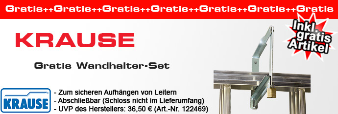 krause stabilo vielzweckleiter 3x8 sprossen inkl gratis krause wandhalter set art nr 122469. Black Bedroom Furniture Sets. Home Design Ideas
