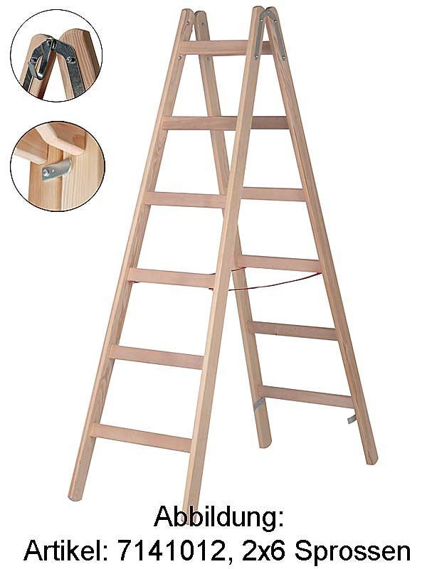stehleiter hymer holzleiter 2x5 sprossen 7141010. Black Bedroom Furniture Sets. Home Design Ideas