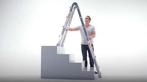 Günzburger steigtechnik mehrzweck teleskopleiter alu